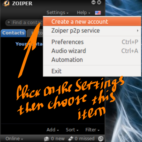 Configuration Guide for Linux ZoIPer: Step 1