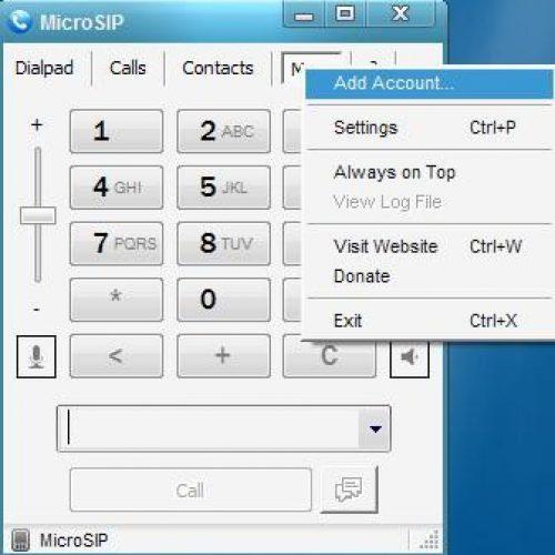 Windows MicroSIP Step1